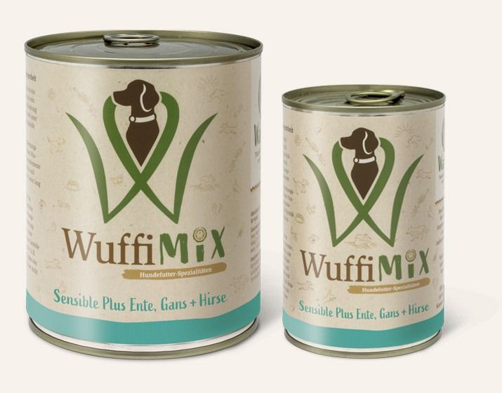 WuffiMIX Sensible Plus Ente, Gans + Hirse